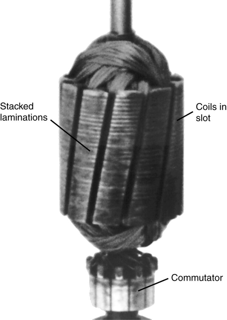 Photograph of a DC armature