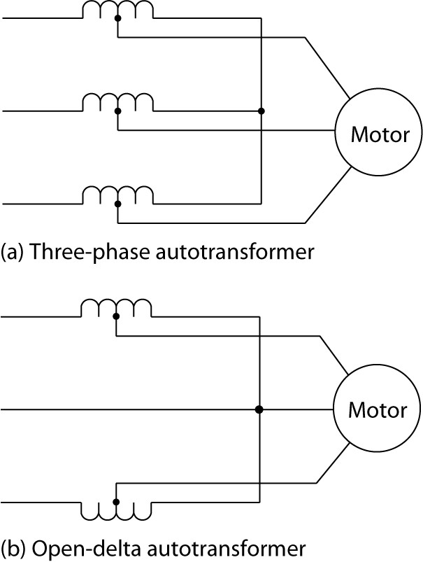 Autotransformer starting of an induction motor