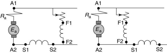 Compound motor connections