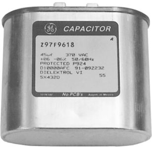 Run capacitor for PSC, or two-capacitor, motor