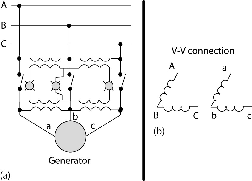 Three-bulb method using transformers