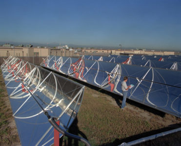 Parabolic Trough Solar Concentrator Array