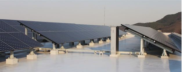 Roof-mounted grid-connected PV system