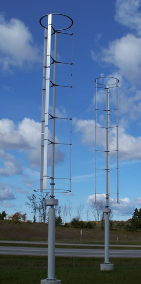 vertical-axis wind turbines