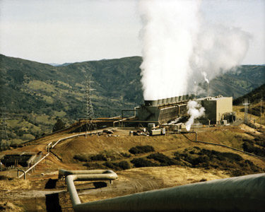 Dry-Steam Geothermal Power Plant at the Geysers in California