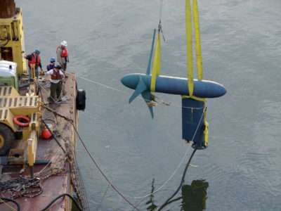 Three-Blade Tidal Stream Generator