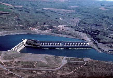 The Chief Joseph Dam on the Columbia River in Washington State is the largest run-of-the-river dam in the world