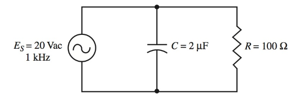 A parallel RC circuit