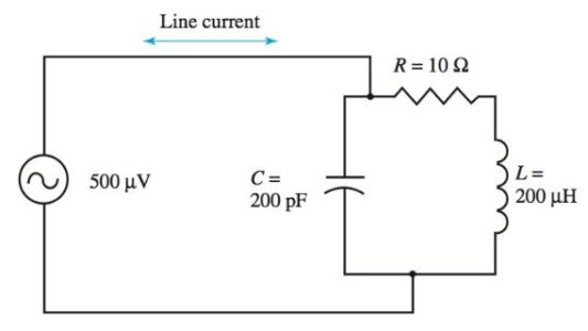 parallel resonant circuit example