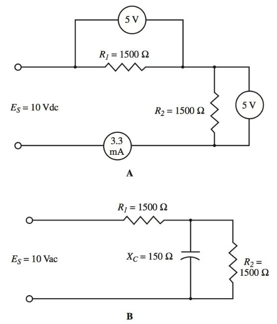 bypassing an ac signal or voltage around a resistance