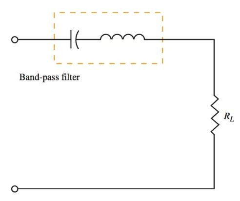 series tuned circuit used as a bandpass filter
