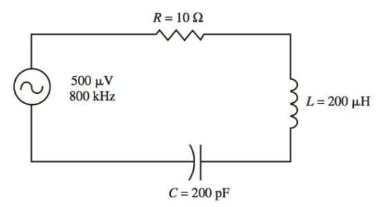 A series tuned acceptor circuit