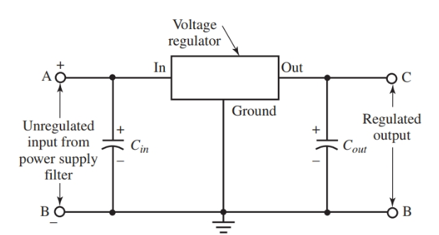 Basic voltage regulator circuit diagram