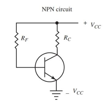 Fixed bias method for connecting a transistor