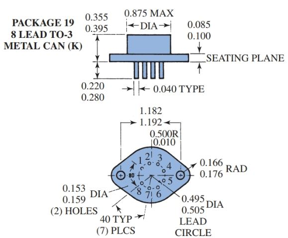 several types of ICs: designs, including pin numbering systems and dimensions a