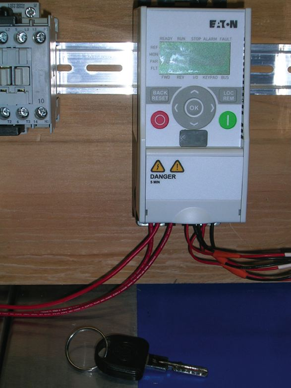 Example of a small variable frequency drive.