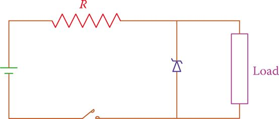 Zener diode in a circuit, regulating load voltage