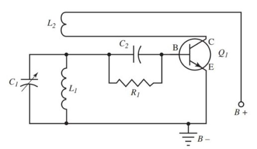 Circuit Diagram of an Armstrong oscillator.