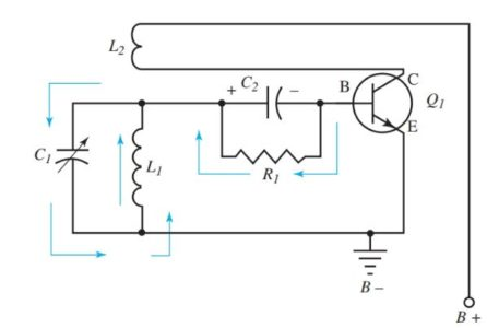 Step 2 in Armstrong oscillator operation