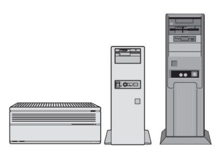 The three most common case styles are the desktop, mini-tower, and tower.