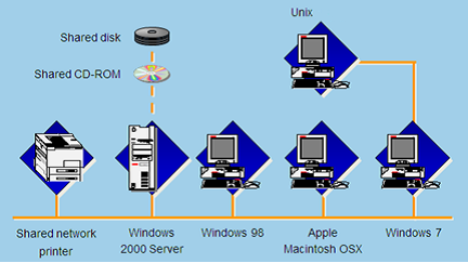 Computers with Different Operating Systems Can Communicate over the Network