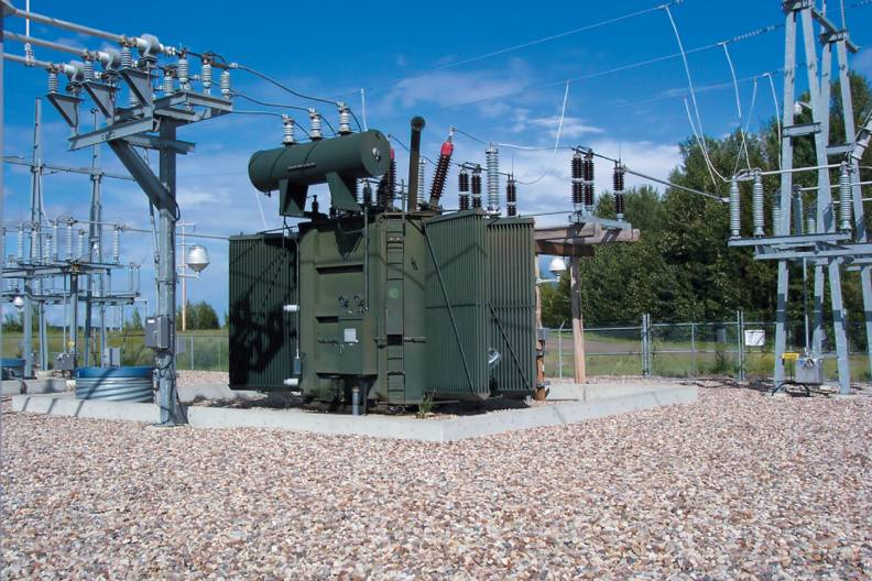 A step-up substation.