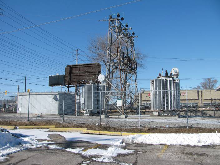 A distribution substation.