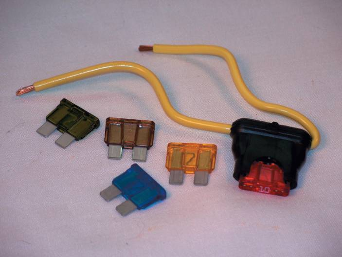 Blade fuses and fuse holder.