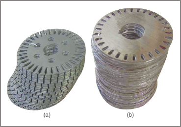 electric motor Rotor laminations: (a) wound, (b) squirrel cage