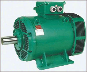 An air-cooled electric motor