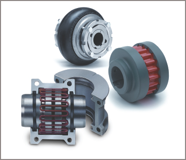 Three types of anti-shock coupler in an electric motor