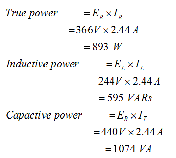 Power Calculations in RL Series Circuit
