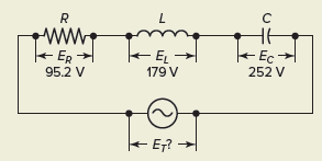 Voltage Calculation in Series RLC Circuit