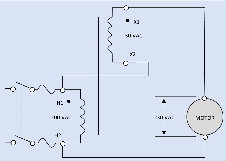 An isolation transformer can be wired as an autotransformer in a boost configuration