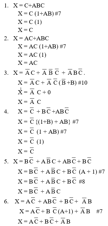 logic simplification examples