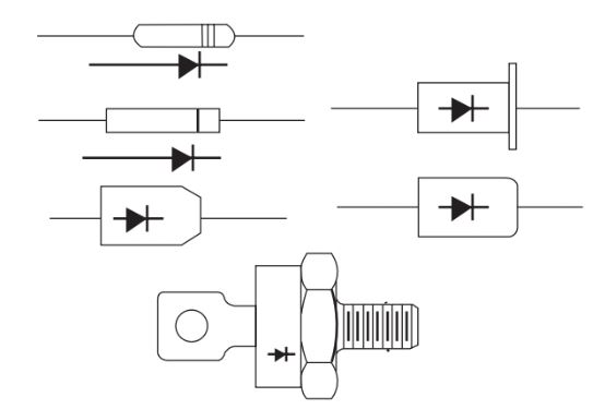 Some widely used silicon rectifier outlines