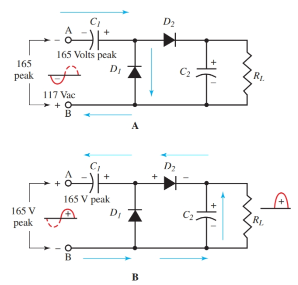 Half-Wave Voltage Doubler Circuit Diagram