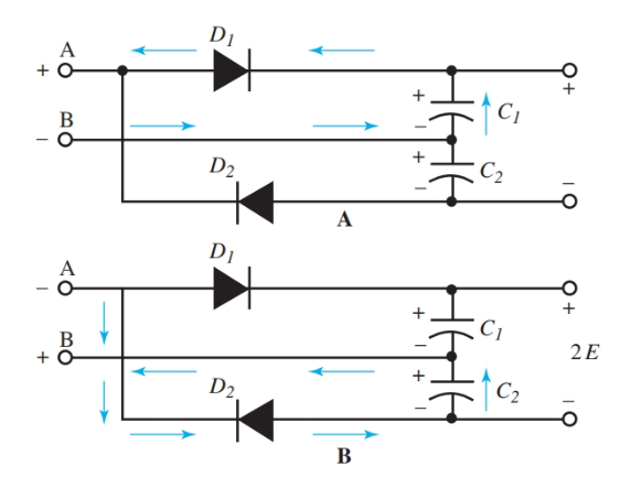 Full-Wave Voltage Doubler Circuit Diagram