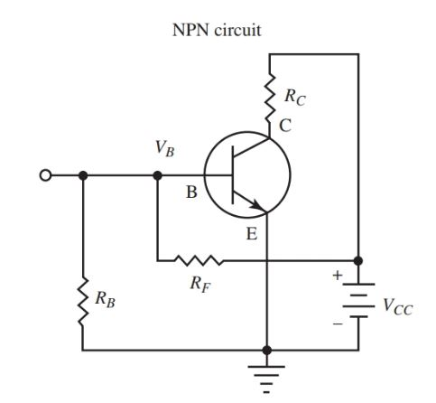 npn transistor amplifier with single battery source