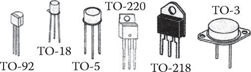 Examples of physical shape (packaging) of transistors.