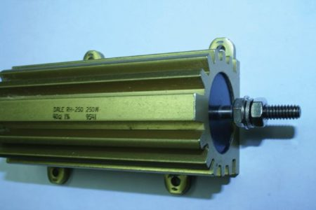 Example of a heat sink for a resistor.