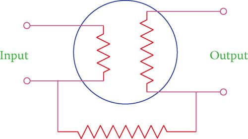 Input and output concept in a transistor.