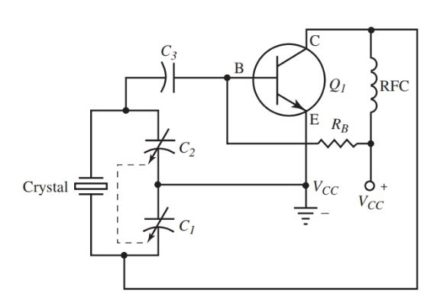 crystal controlled Pierce oscillator circuit.