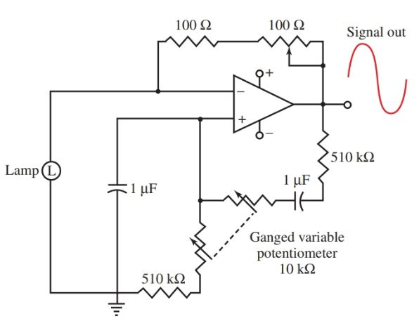 The Wien bridge oscillator circuit diagram