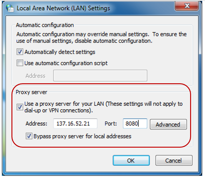 how to configure Proxy Settings