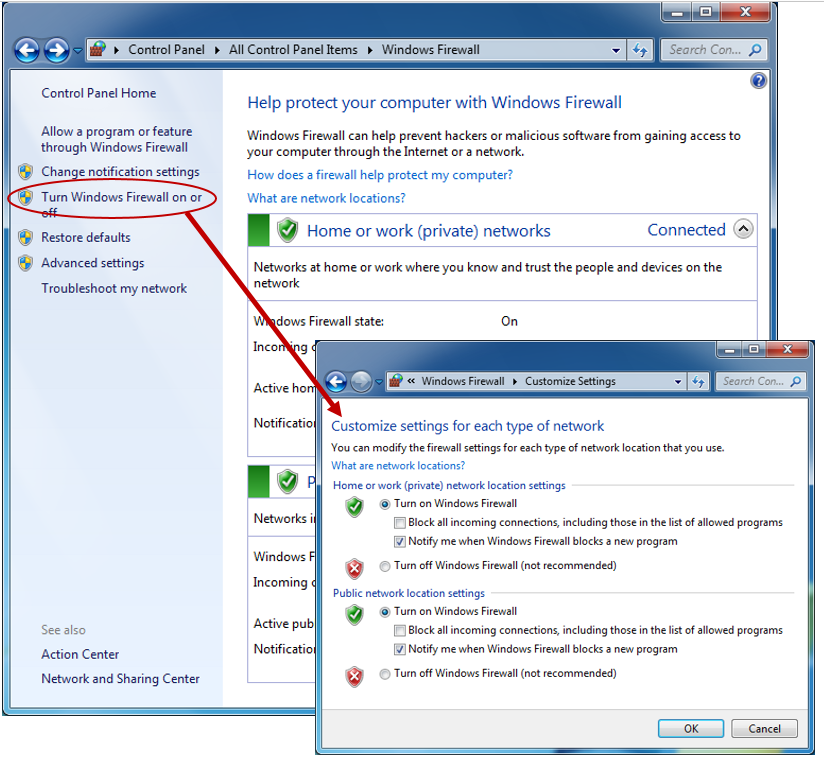 how to make additional configuration changes to Firewall Settings
