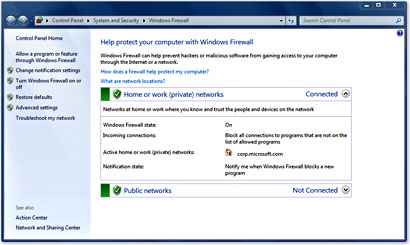 how to configure Firewall Settings