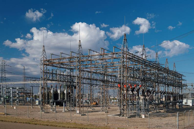 A step-down substation