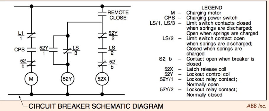 ABB Circuit Breaker SCHEMATIC DIAGRAMS