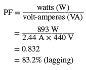 power factor calculation in rl series circuit